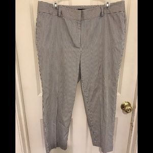 Black and white striped Talbots pant. Size 14